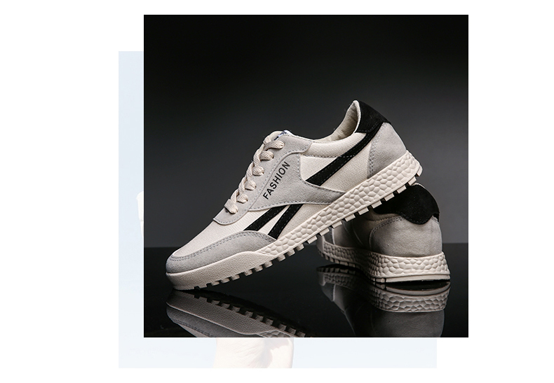 New Fashion Casual Flat Vulcanize Shoes For Men Breathable Lace-up Shoes Footwear Striped Shoes Flax And Cattle Cross Stitching 32 Online shopping Bangladesh
