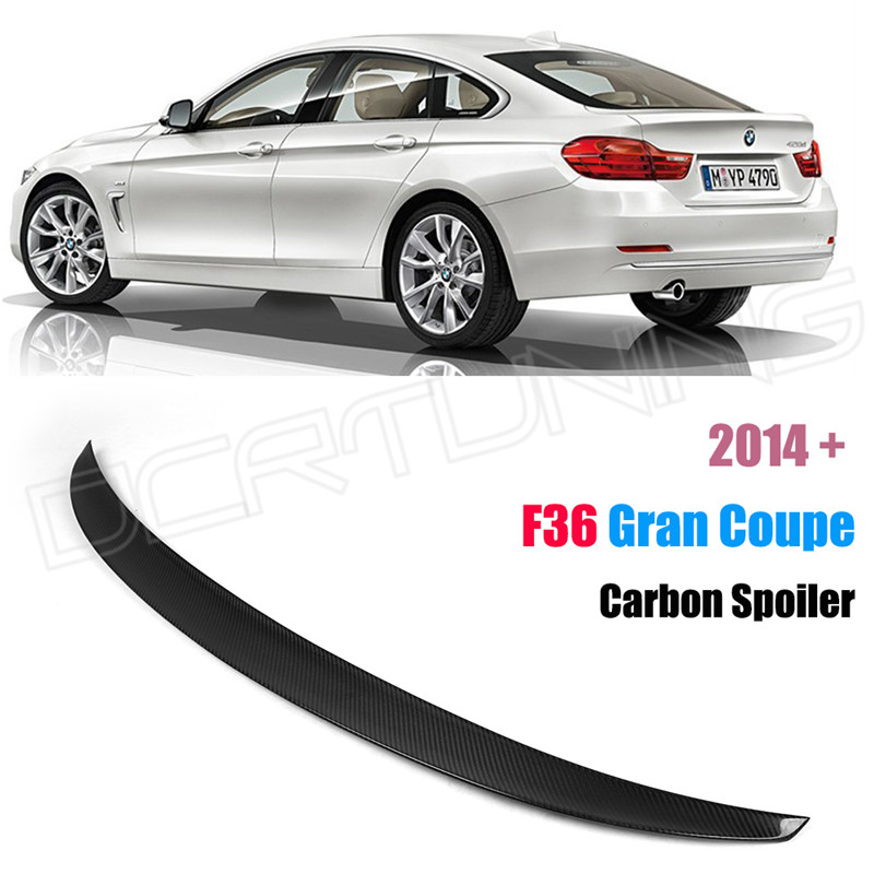 P Style For BMW F36 Spoiler Carbon Fiber 4 Series 4 Door Gran Coupe F36 Carbon Spoiler 2014 2015 2016 - UP 420i 420d 428i 435i <br><br>Aliexpress