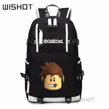 WISHOT Roblox game backpack for Kids Boys Children teenagers Men Student School Bags travel Shoulderbag Laptop Bags(China)