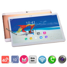 2017 Newest 10 inch Tablet Octa Core 4G LTE Phone Call 4GB RAM 32GB ROM 1920*1200 IPS Screen Bluetooth Android 6.0 GPS Tablet 10(China)