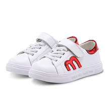 Kid's Sneaker Sports Shoes Fitness  PU Leather Shoes  for Children Boy's Girls's School Shoes White Shoes  US Size