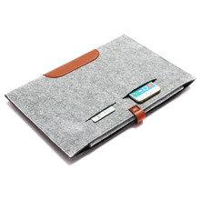 Wholesale Slim Woollen Felt Protective Carrying Bag Durable Soft Sleeve Cover Case For iPad Pro 12.9 Cover Case Tablet Bag Case