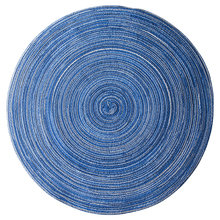 Home Mat Design Table Ramie Insulation Pad Round Placemats Linen Table Mats Kitchen Accessories Decoration Home Pad Coaster(China)