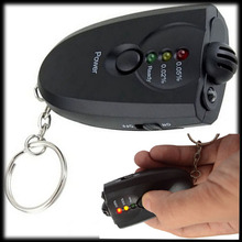 by DHL or EMS 200 pieces Digital Alcohol Breath Tester Breathalyzer Analyzer Detector Test Keychain(China)