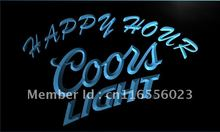 LA603- Coors Light Happy Hour Beer Bar   LED Neon Light Sign     home decor  crafts