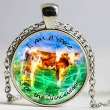 VEGAN NECKLACE Vegan Jewelry Vegan Pendant Cow Pendant Blue Green Brown White Animal Lover Gift Kindness to Animals Jewelry