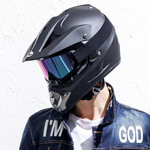 Cool Ghost Head Style Motorcycle Helmet Full Face Racing Off Road Helmet Breathable Motorbike Mask DOT ECE Approved