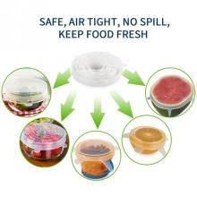6pcs/Set Food Preservation Cover Universal Silicone Stretch Bowl Stopper Cover Suction Pot Lids Kitchen Cooking Pan Cover(China)