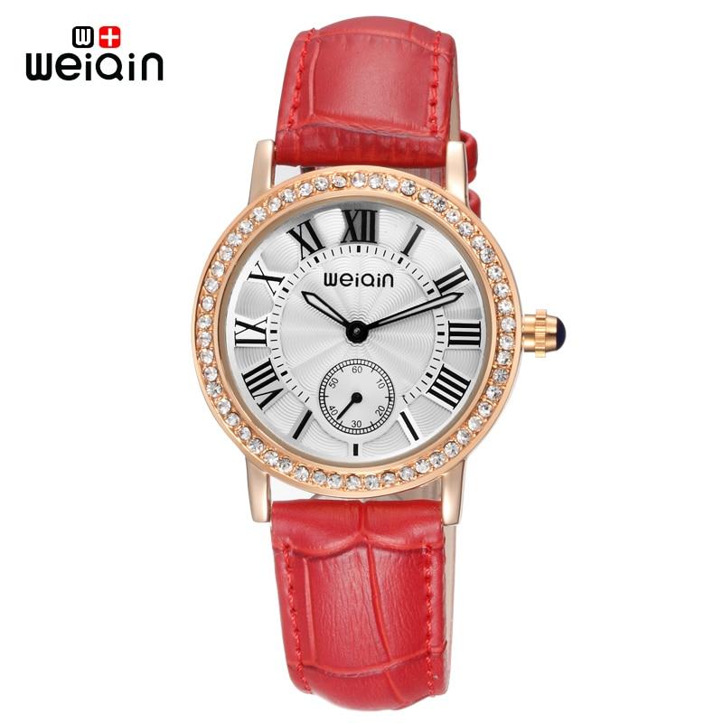 WEIQIN brand relojes mujer 2017 new quartz watch women fashion leather band wristwatches luxury ladies watches montre femme 4812<br><br>Aliexpress