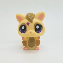 Original 1pc LPS cute toys Lovely Pet shop animal Yellow Squirrel action figure littlest doll