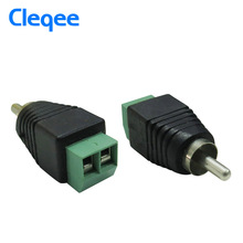 Cleqee P7019 10pcs DC Power To RCA Male Adapter Connector For CCTV Cameras connector