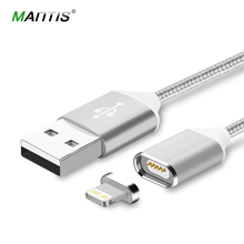Mantis Magnetic Cable Fast Charging USB Cable for iphone 5 5s 6 6s 7 iPad 2 3 4 1M Nylon Magnet Charger For Mobile Phone Cables(China)