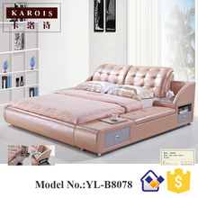Queen Storage bed Platform bed with Drawers B809(China)