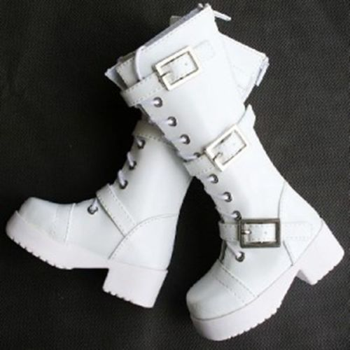 [wamami] 16# White 1/4 MSD DZ DOD BJD Dollfie Leather Boots/Shoes<br>