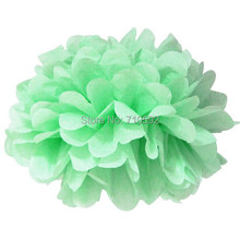 "Buy Mint POM POM 6pc 6""/15cm Tissue Paper Pom Poms Decorative Flower Wedding Decoration Home Birthday Baby Shower Tea Party for $2.20 in AliExpress store"