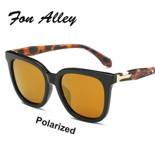 FON ALLEY 2017 Korean Latest Style Oversized Horn Rimmed Polarized Sunglasses Modern Men Women Brand Designer Sun Glasses UV400