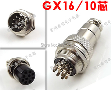 Super Quality GX16 10 pins 16mm aviation connector female plug male socket