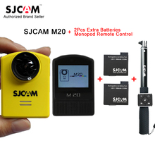 Original SJCAM M20 Gyro Mini Action Helmet Sports Camera 30M Waterproof 16MP Bluetooth Watch Remote Control+2pcs Extra batteries