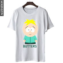 New Summer Fashion Cotton Pattern T Shirt Mens Clothing Cartoon South Park Butters Print TShirt With Short Sleeve Top Tees S-3XL