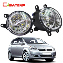 Cawanerl 2 x H8 H9 H11 автомобиля светодиодная лампа передний правый + левый туман свет DRL дневные Бег свет для Toyota Corolla салон Verso(China)