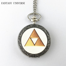 FANTASY UNIVERSE Freeshipping wholesale 20pc a lot The Legend of Zelda pocket watch Necklace Dia4.7CM DFEIJI21