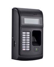 LCD Biometric PIN Code 125KHz RFID ID Card Reader Door Lock Fingerprint  Access Control With USB / Door Bell Button Brand NEW