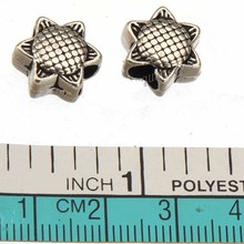 Spacer Beads Charms Bracelets European Sun Flower Double Loose Slider Big Hole DIY Silver Metal Jewelry Accesories 13*7mm 30pcs(China)