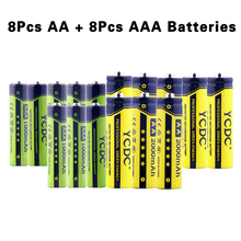 YCDC Wholesale Durable Rechargeable Battery Long Lasting high performance 1000/2000mAh Ni-MH 1.2v With Battery Case Each 8PCS