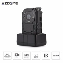 Azdome BC01 Ambarella A7LA50 Police Body Worn Camera Full HD 1296P 30fps  IR Night Vision 2inch LCD Body Cam 32GB H30