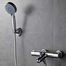 New Arrival High Quality Bathroom Thermostatic Bathtub Rainfall Hand Shower Faucet Set Tap Chorme