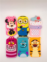 3D Cartoon Minions Minnie Ice Cream Silicone Case For Samsung Galaxy J1 Mini J105 J105H J105F / J1 Nxt Duos Sulley Soft Cover