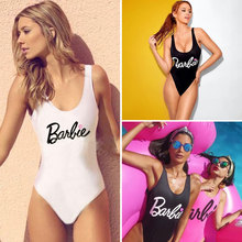 M&M New 2017 Sexy Swimwear Women One Piece Swimsuit Backless Barbie Bodysuit Beach Bathing Suits Swim Wear Maillot De Bain Femme(China)