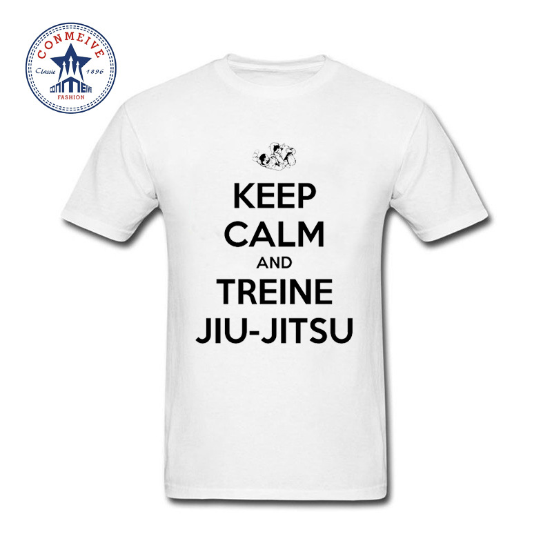 messe de noel beauvais 2018 2017 Hot Selling Funny KEEP CALM AND TREINE JIU JITSU Cotton T  messe de noel beauvais 2018