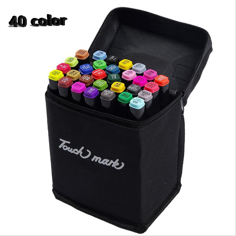 40colors Artist Double Headed Sketch Copic Marker Set 30 40 60 80 Colors Alcohol Based Manga Art Markers for Design Supplies<br>