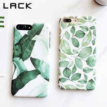 LACK Hard PC Matte Phone Case For iphone 7 Case Summer Cool Green Plants Leaf Back Cover Cases For iphone 7 Plus Capa Fundas(China)
