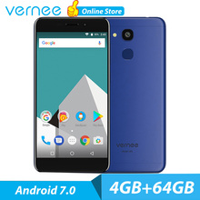 Original vernee M5 Mobile Phone 4G LTE Android 7.0 Phone CellPhone 4GB 64GB 5.2 Inch HD IPS 13MP Smartphone Octa Core Dual SIM(China)