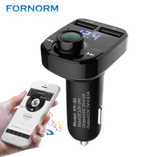 Portable Bluetooth MP3 Player Hands-free Call Wireless FM Transmitter Modulator with 5V 4.1A Dual USB TF Slot Voltage(China)