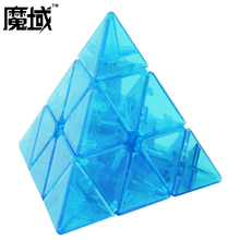 Moyu Magic Cube Magnetic Pyraminx 3x3 Limited Grandmaster Edition Transprent Blue Speed Puzzle Twist Cubes Toys For Children(China)