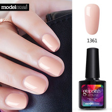 Modelones Newest Pink Color Nail Polish UV Led Long Lasting Nail Gel Polish DIY Nail Art Gel Lacquer Professional UV Gel Nail(China)