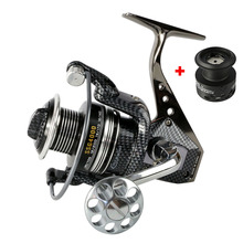 Carp Spinning Fishing Reels Rear Drag  Metal Handle and Spool fishing wheel 12+1BB Stainless steel Shaft +1 Spare Plastic Spool