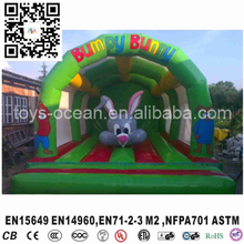 Cartoon Rabbit Inflatable Kids Bounce House, Inflatable Rabbit Bouncer(China)