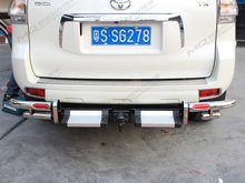 For Toyota Land Cruiser Prado FJ150 2010-2012 Rear Bumper Skid Protector Guard Foot Step Running Board With Trailer Hook