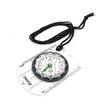 HOT Mini Transparent Plastic Compass Travel Scale Ruler Outdoor Survive Camping Hiking Cycling Military Compass Tools P25