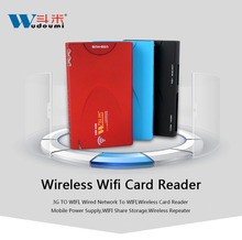 Portable Multiple Smartphone WiFi Wireless card reader 3G wifi router power bank 1500mAh Emergency power battery pocket Router