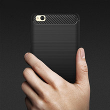 Phone Cases For Xiaomi Redmi 4A Case 5.0'' Luxury Carbon Fiber Anti-drop TPU Soft Cover For Redmi 4A 4 A Back Cover Redmi 4A