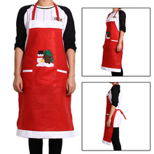 New Christmas Santa Claus Apron Christmas Decorations for Home Red Cloth Adult Pinafore Noel Decoration Hot Sale