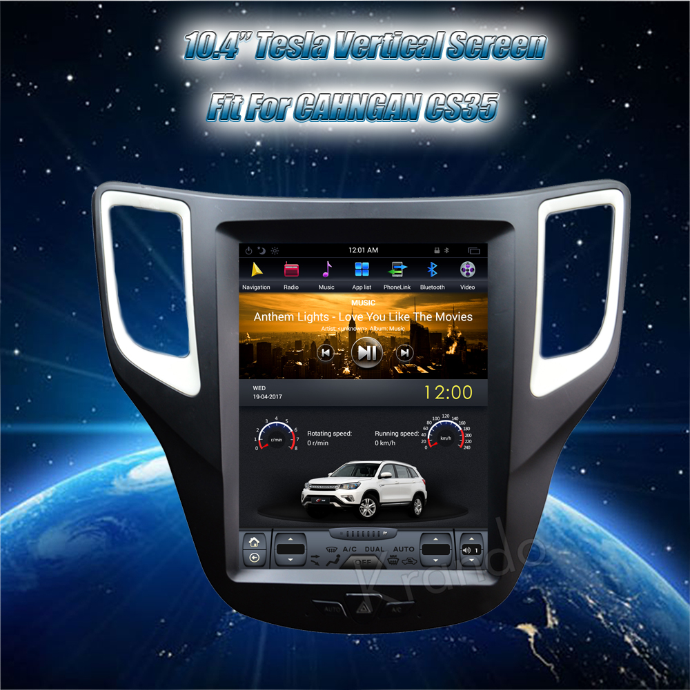 Krando Vertical screen android car radio multimedia for CHANGAN CS35 screen navigation with gps system