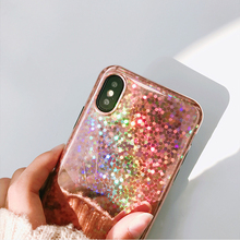 Laser Case for iPhone 8 Plus Bling Coque for iPhone 7 Plus X 6 6s Plus Personality Phone Case for iPhone 7 Soft TPU Coque(China)