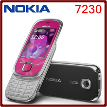 7230 Original Nokia 7230 Bluetooth FM JAVA 3.15MP Unlocked cell Phone  One year warranty Free Shipping