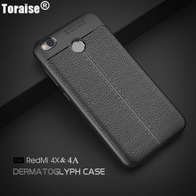 Toraise For Xiaomi Redmmi 4A Case Luxury Soft Silicone Carbon Fiber Full Protection Back Cover Case For Xiaomi Redmi 4X Capa(China)